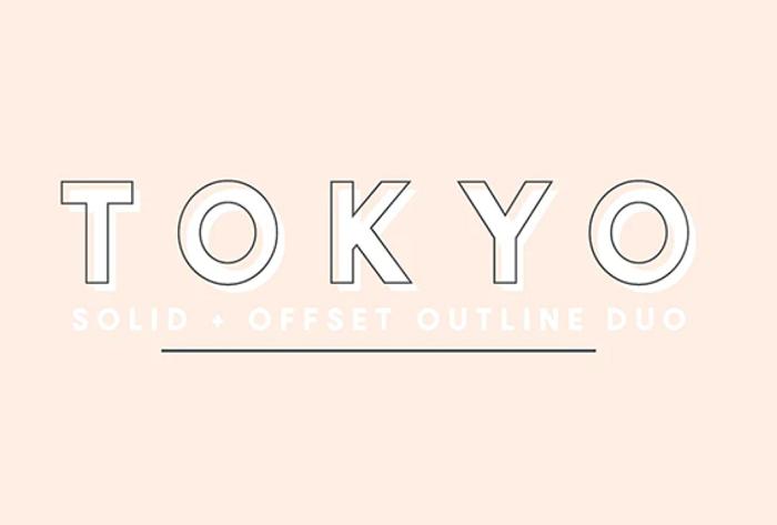 Tokyo outline font