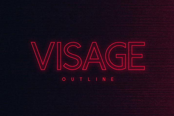Visage outline font