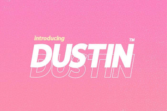Dustin YouTube font