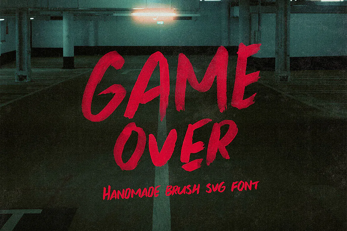 Gameover YouTube font