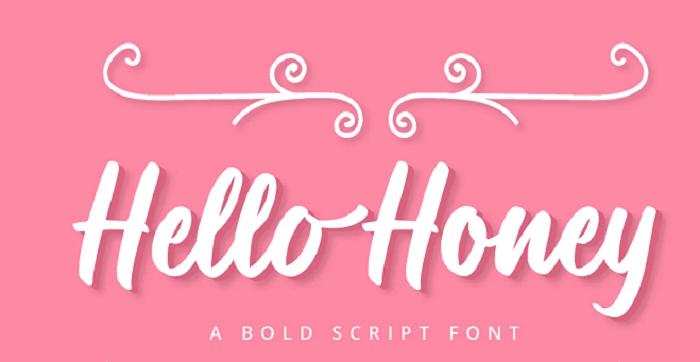 Hello Honey YouTube font