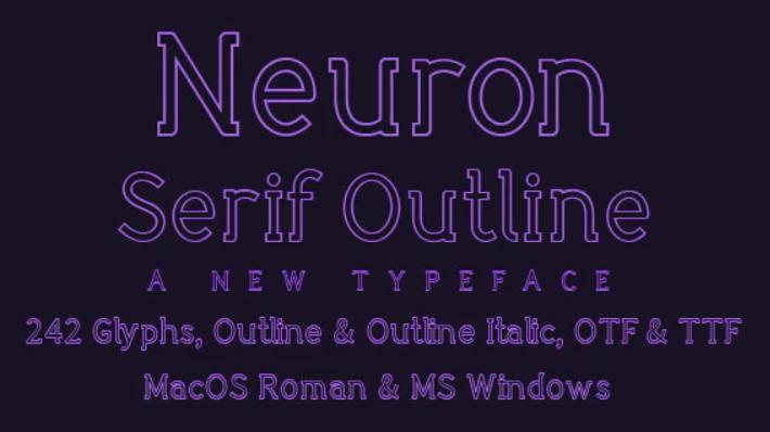Neuron serif outline