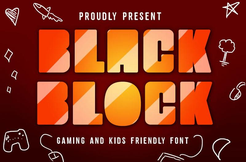 Black Block block font