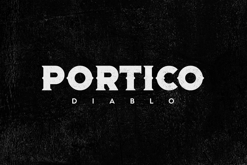 portico blackletter font