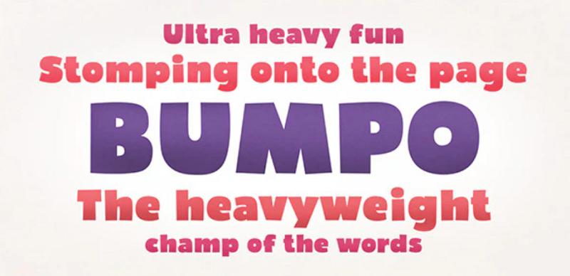 Bumpo font