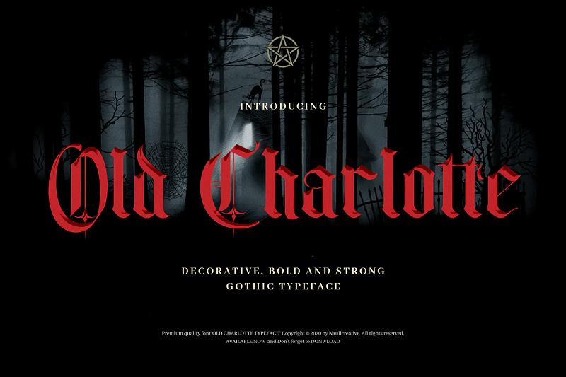old charlotte font