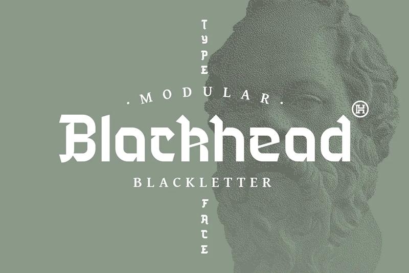 Blackhead blackletter font