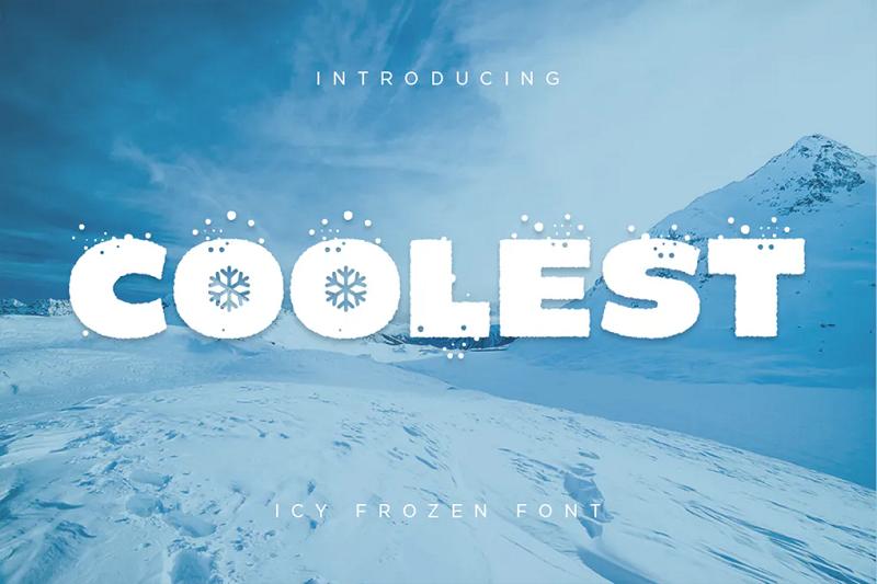 Coolest icy frozen font