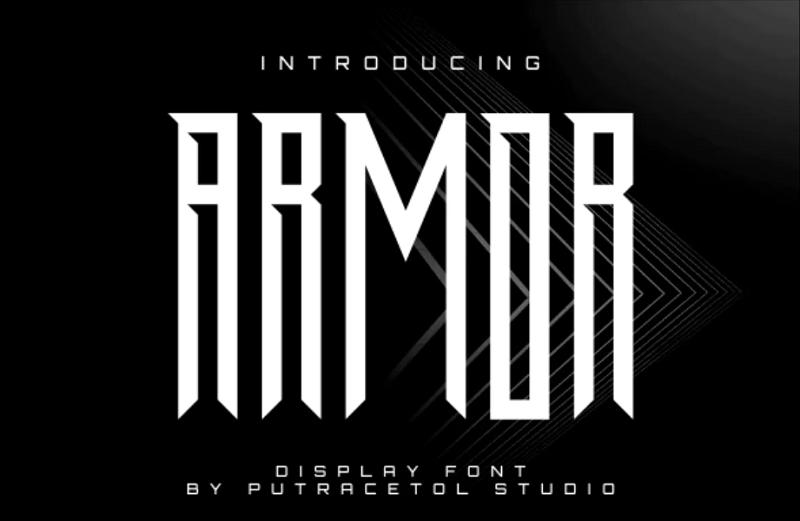 armor block font