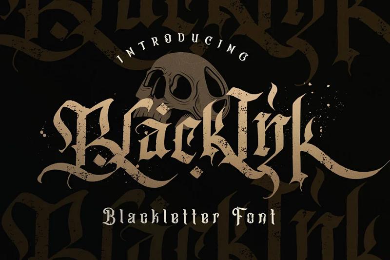 blackink blackletter font
