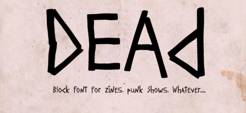 dead block font