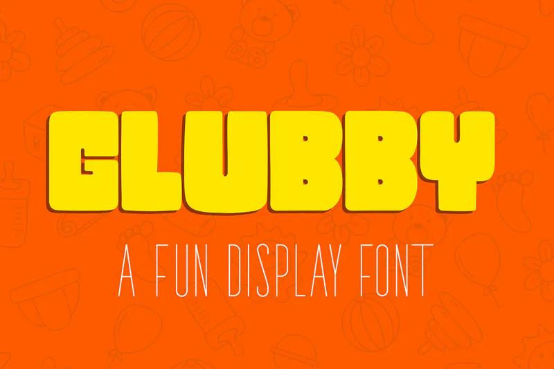Glubby block font