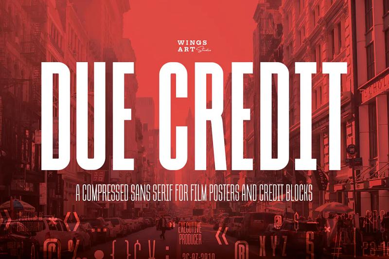 due credit block font