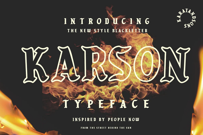 karson typeface blackletter font