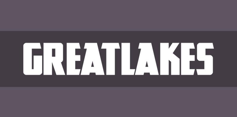 GreatLakes block font
