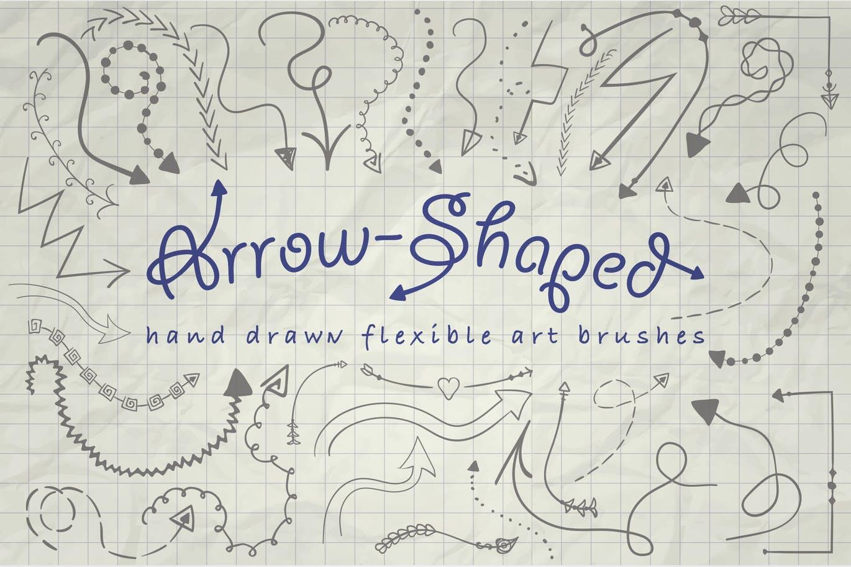 Arrow-shaped brushes