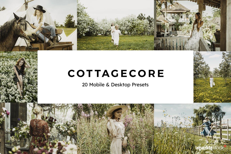 Cottagecore Lightroom presets