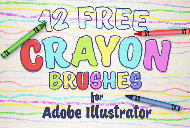 Free wax crayon brushes