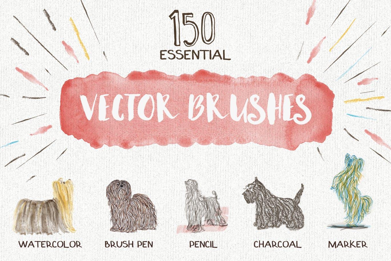Essential vector brushes