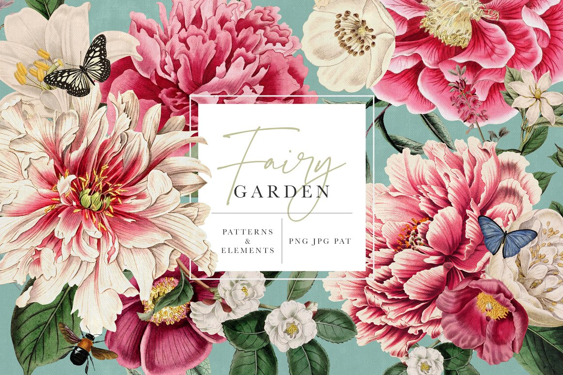 fairy garden patterns and elements