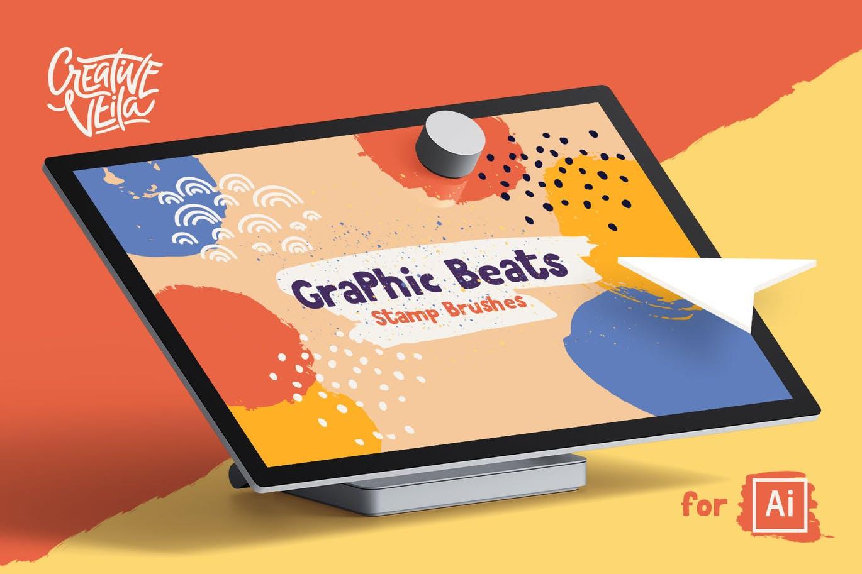 Graphic beats stamp brushes