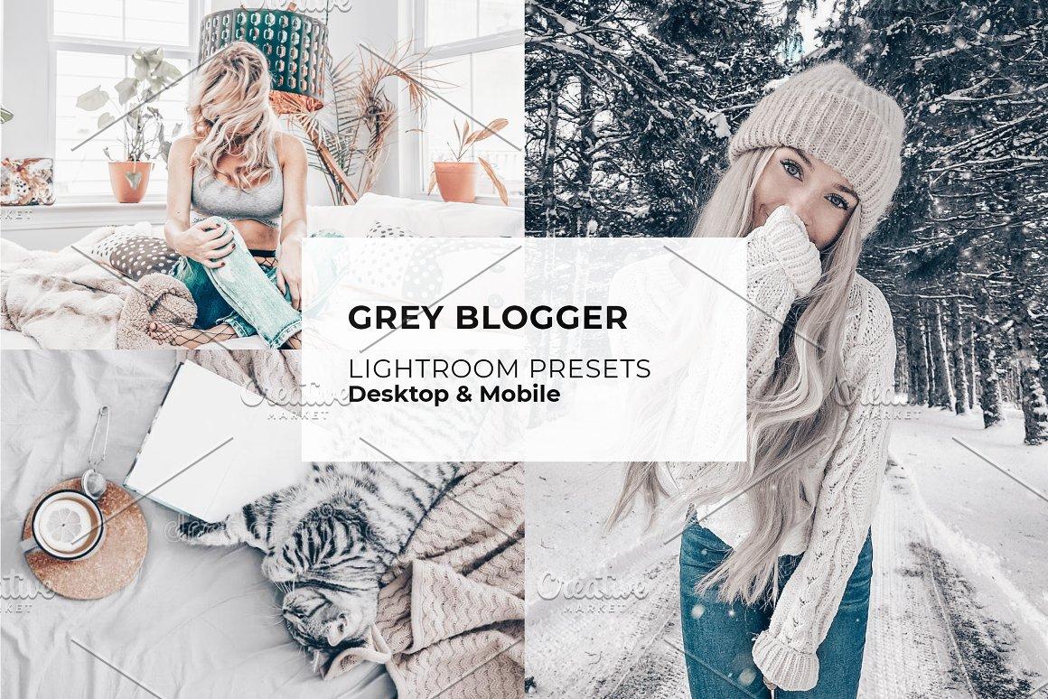 Grey blogger lightroom presets