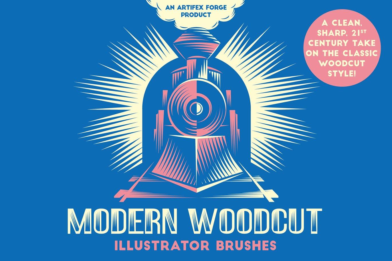 Modern woodcut brushes