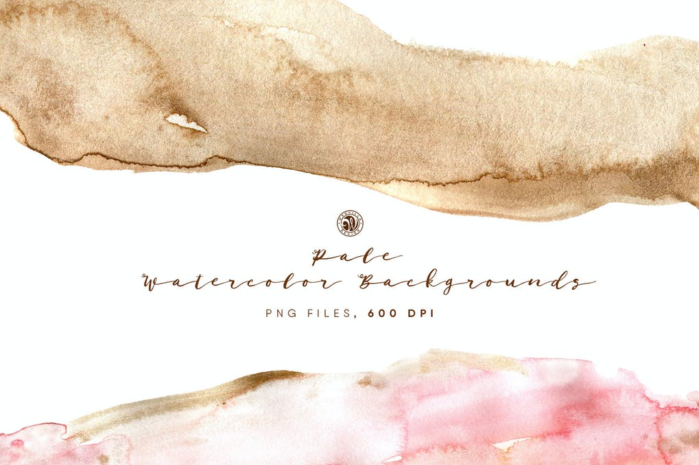 Pale watercolor backgrounds