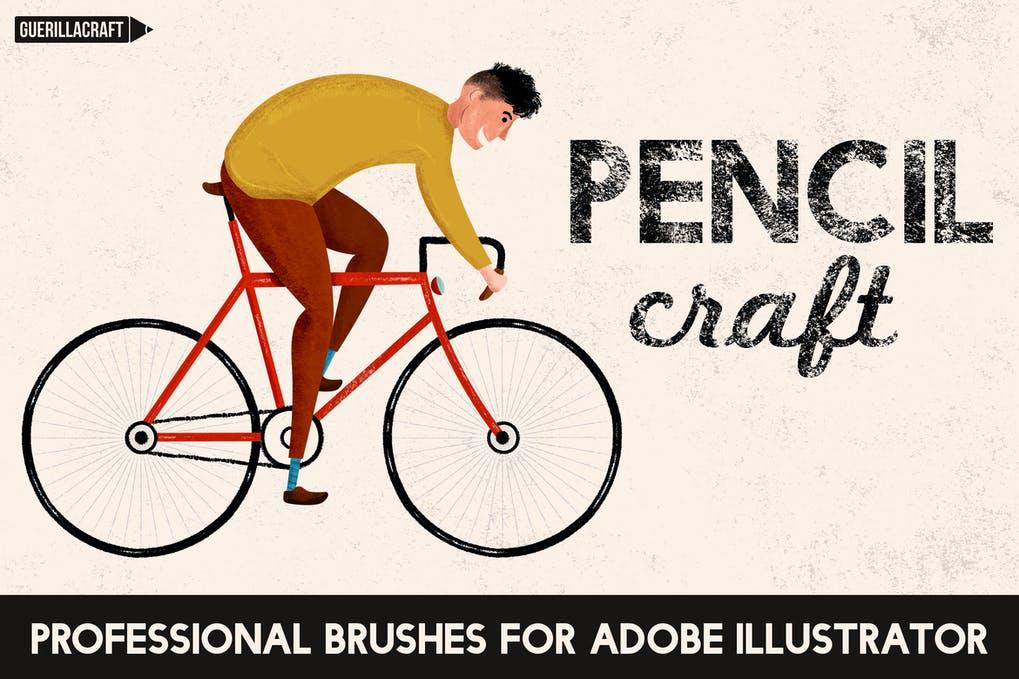 Pencil craft Adobe Illustrator brushes