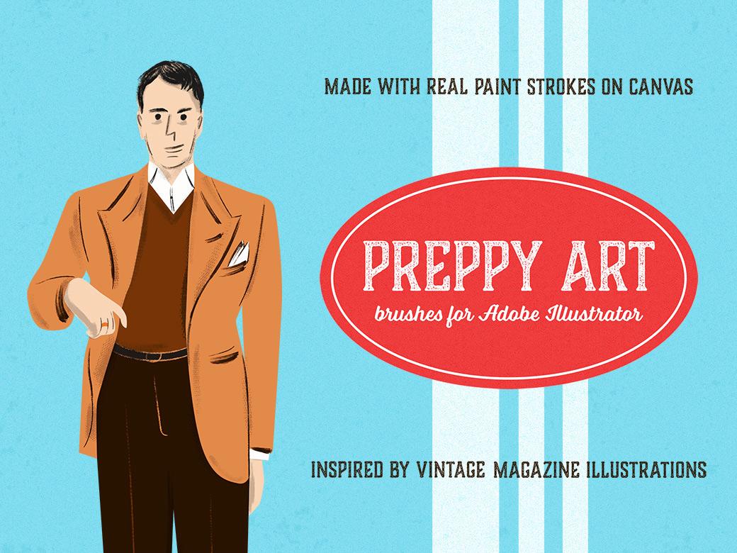 Preppy art illustrator brushes