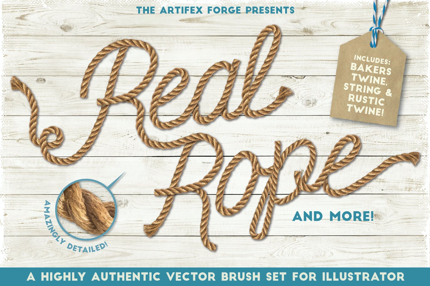 Real rope brushes