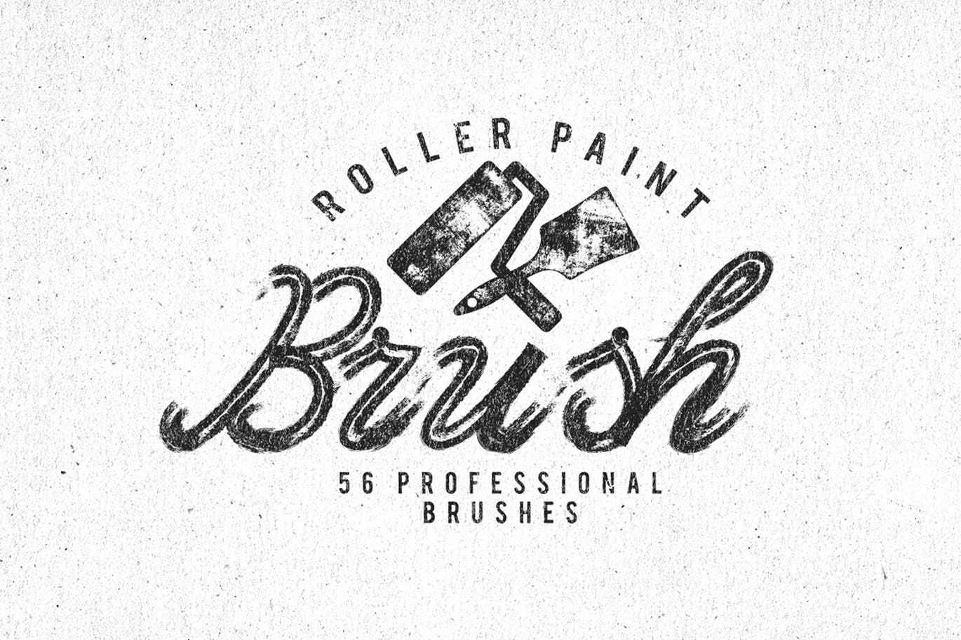 Roller paint brushes