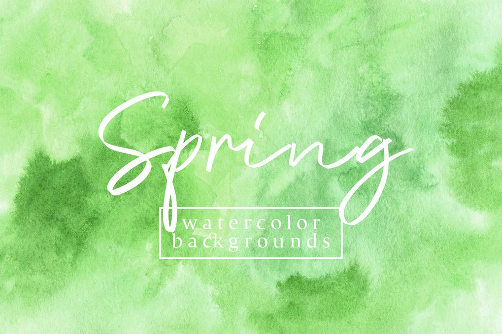 Spring watercolor backgrounds