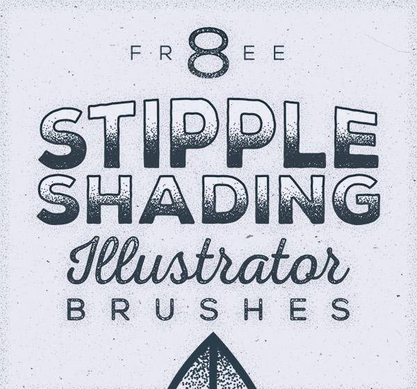 Free stipple shading brushes