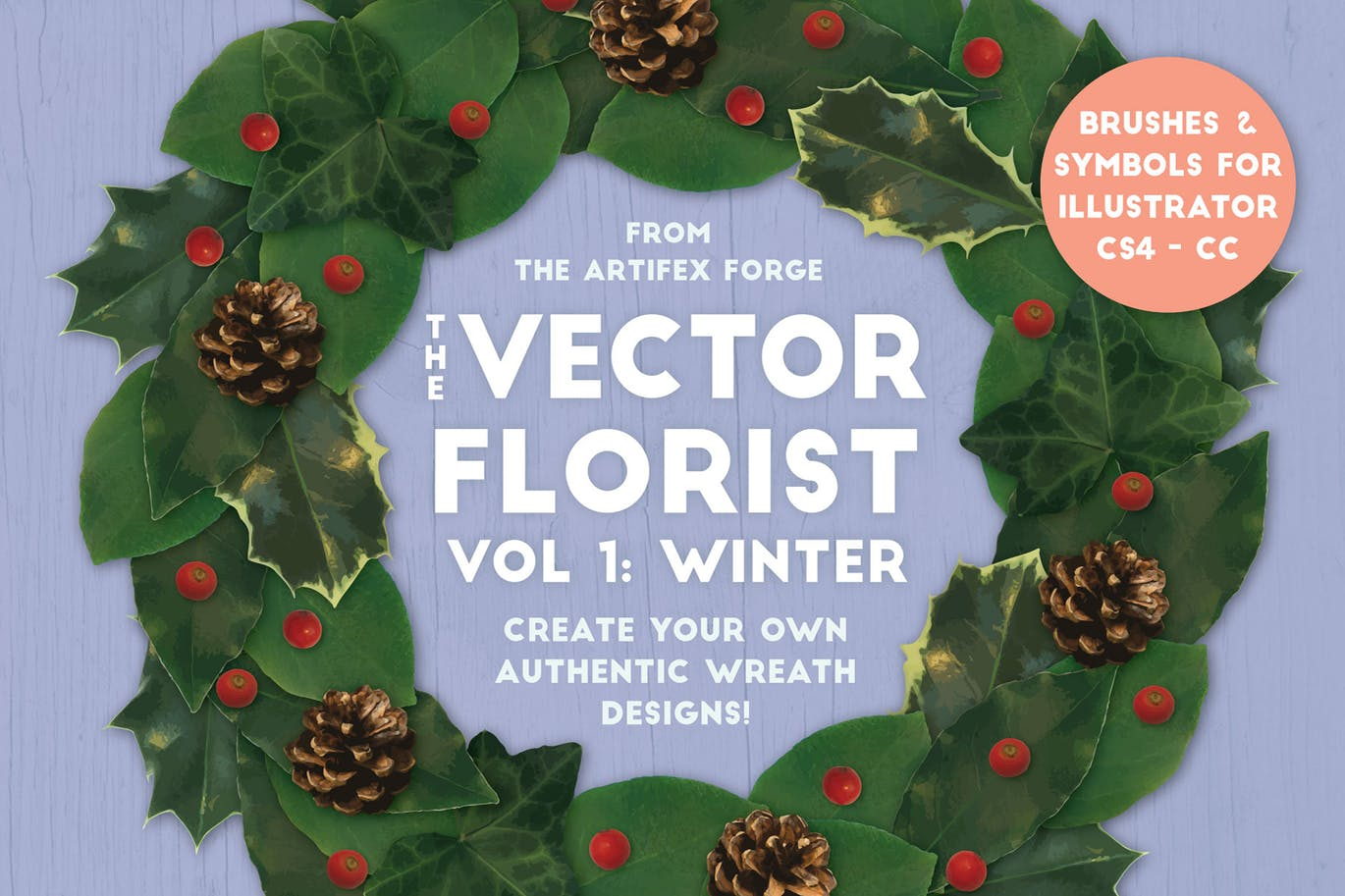 The vector florist brushes and symbols