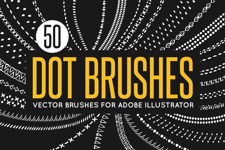 Dot brushes for Adobe Illustrator