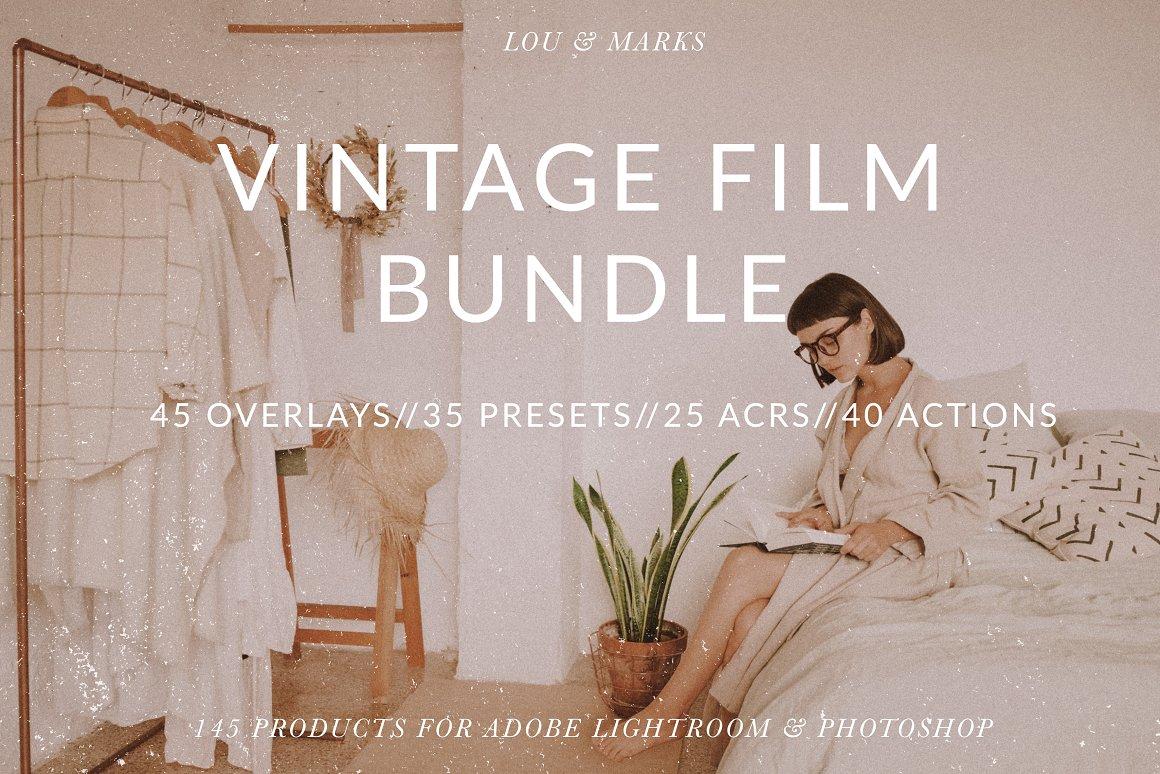 Vintage Film Editing Lightroom bundle