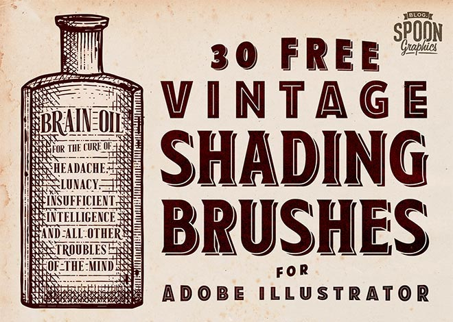 Free vintage shading brushes