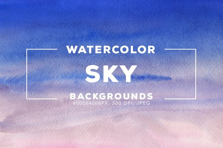 Watercolor sky backgrounds