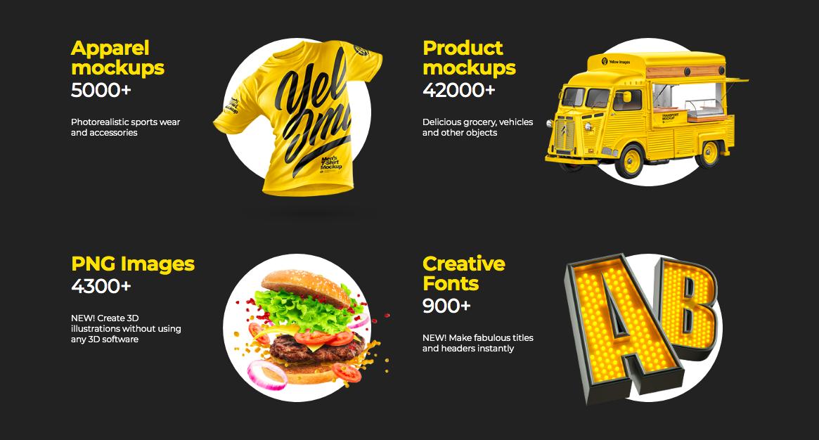 Yellow Image mockups