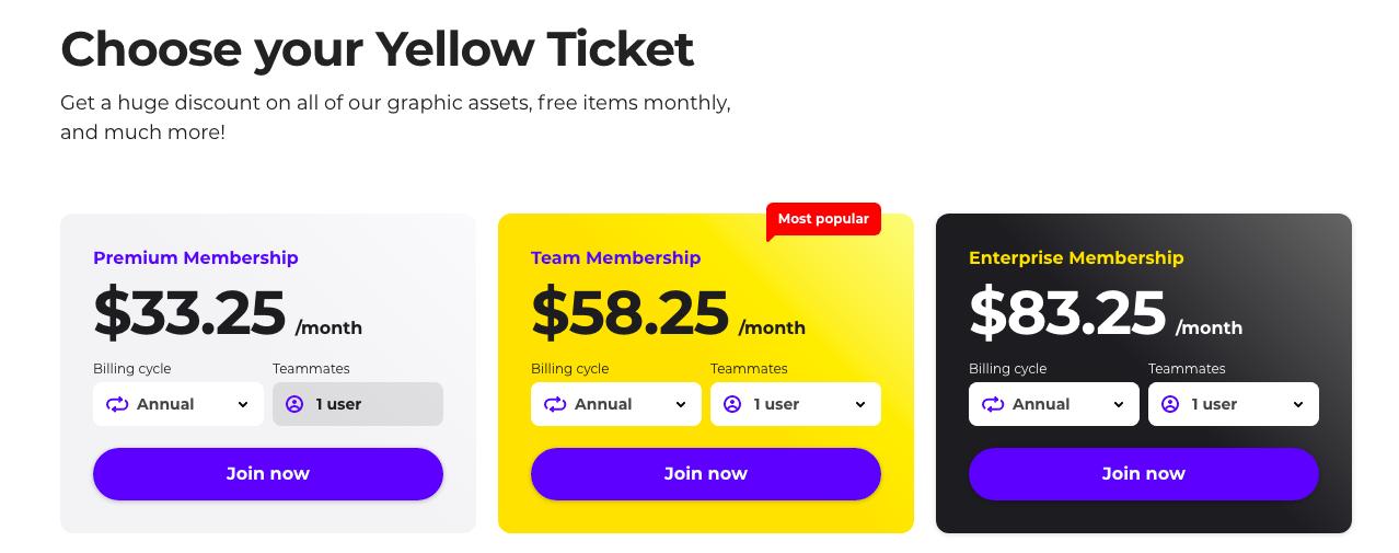 Yellow Ticket membership