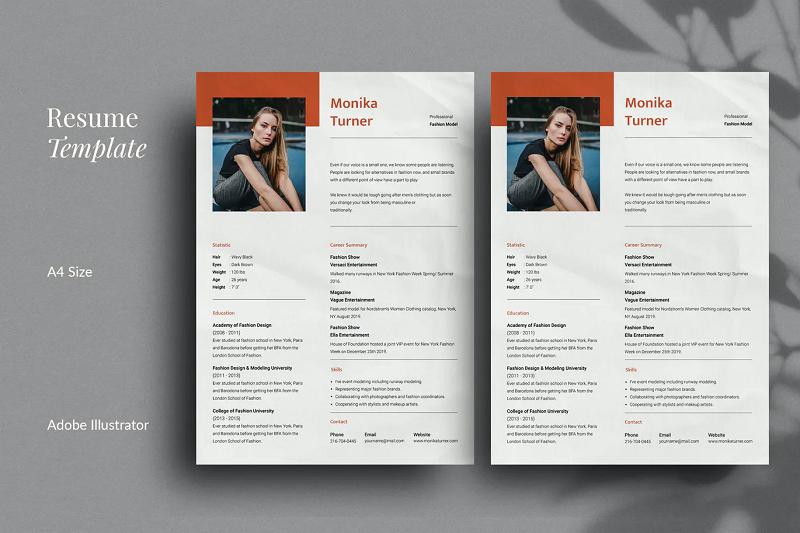 Modern CV and resume template