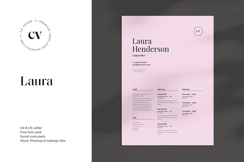 laura cv resume template