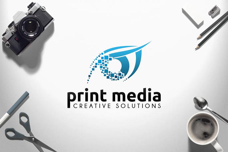 Print photoshop logo template