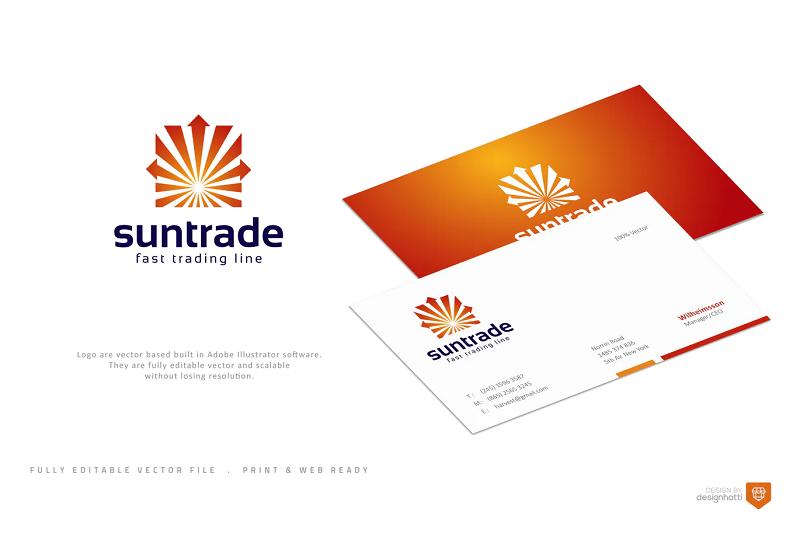 Suntrade photoshop logo template