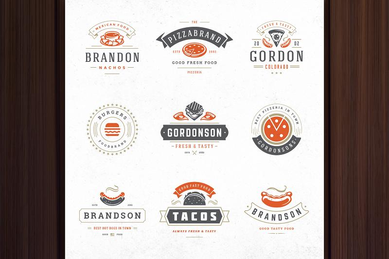 Fast food photoshop logo templates