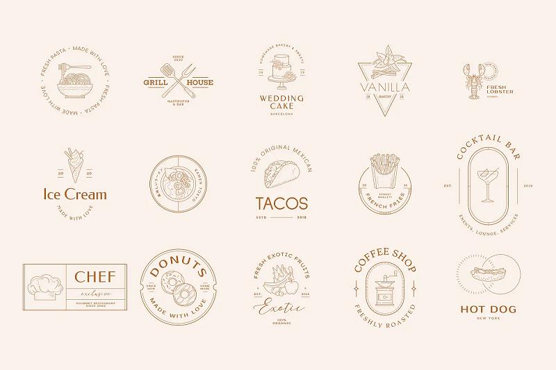 food photoshop logo template