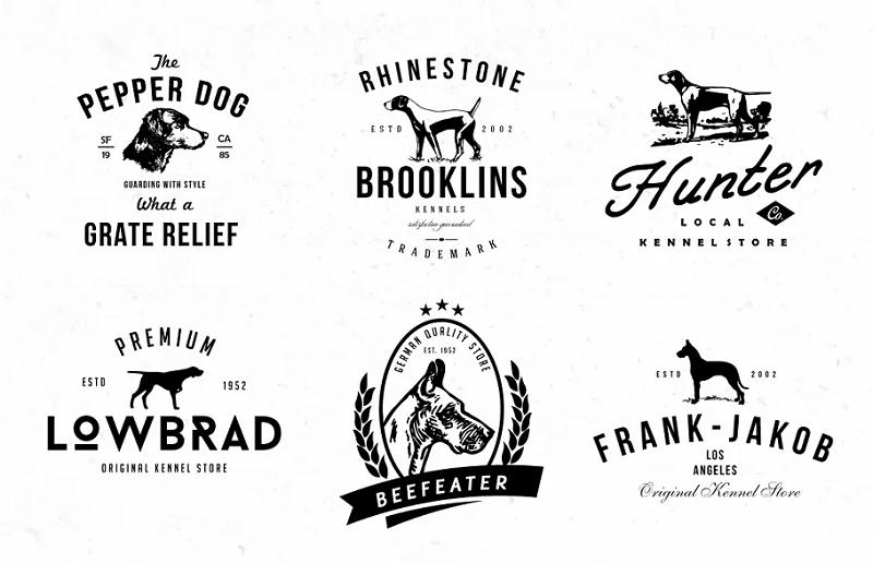 Dog Kennel photoshop logo templates
