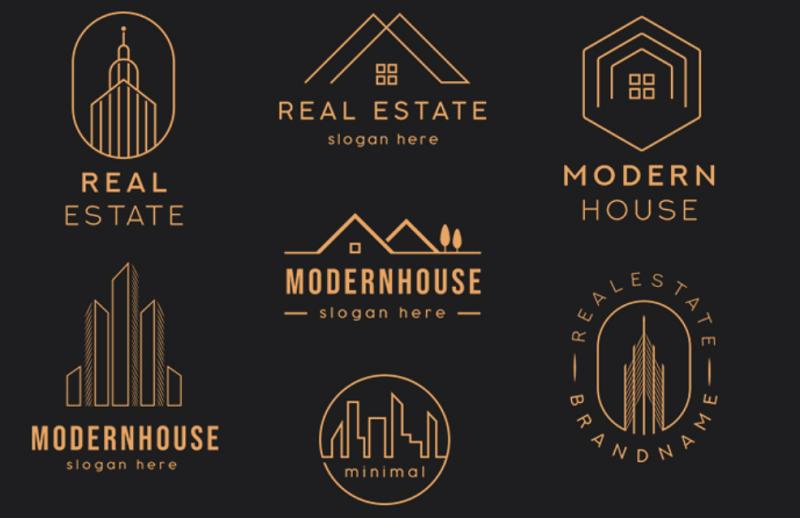 real estate photoshop logo templates