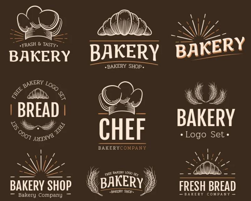 bakery photoshop logo template